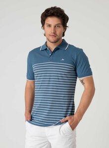 Gestreiftes Poloshirt aus Bio Baumwolle mit Knopfleiste - ORGANICATION