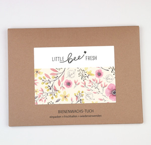 Bienenwachstuch Set L/M/S - rosa - little bee fresh