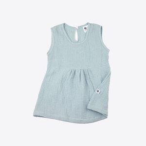 Kleidchen aus Bio Baumwoll Musselin - mint - rosa - Pünktchen Komma Strich