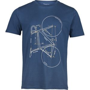 T-shirt with printed bike - Insigna blue - KnowledgeCotton Apparel