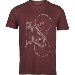 T-shirt with printed bike - Decadent Chokolade - KnowledgeCotton Apparel