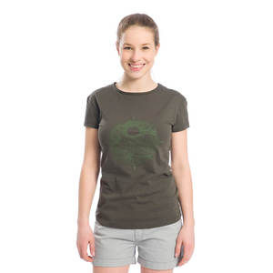 Wilder Nature T-Shirt Damen Oliv - bleed