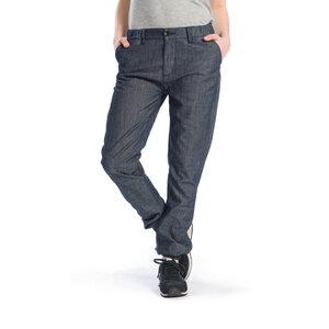Cuffed Jeans Hose Damen Jeansblau - bleed