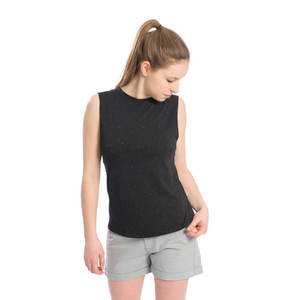 Muscle Shirt Damen Schwarz - bleed