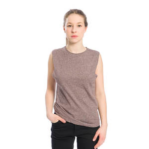 Muscle Shirt Damen Dunkelrot - bleed