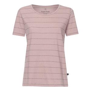 TT64 T-Shirt Damen Altrosa/Gestreift Bio & Fair - THOKKTHOKK