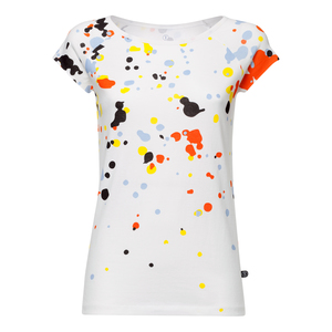 Blur Cap Sleeve T-Shirt Damen weiß Bio & Fair - THOKKTHOKK