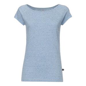 Cap Sleeve T-Shirt Damen Hellblau/Confetti Bio & Fair - THOKKTHOKK