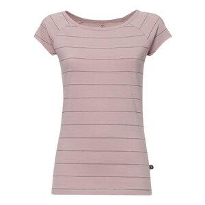 3778bbd081323a Cap Sleeve T-Shirt Damen Altrosa Gestreift Bio   Fair - THOKKTHOKK
