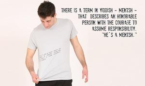 T-Shirt 'Yiddish-Mentsh' - Lena Schokolade
