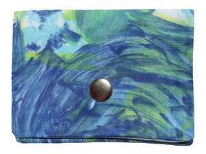 Leesha WILDe Upcycling Mini Portemonnaie Blue Ocean - Leesha