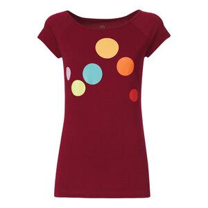 Circles Cap Sleeve T-Shirt Damen rot Bio & Fair - ThokkThokk