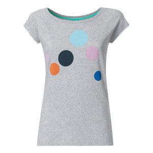 Circles Cap Sleeve T-Shirt Damen hellgrau spotted Bio & Fair - THOKKTHOKK