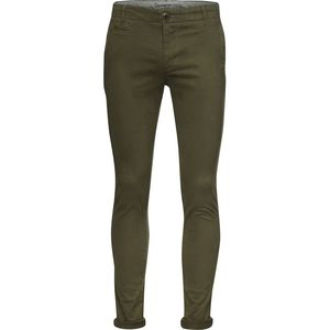 Stretch Chino Hose - Pistol Joe - Burned Olive - KnowledgeCotton Apparel