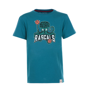 Octopus -Kinder Basketball T-Shirt Kurzarm aus 100% Bio-Baumwolle - Band of Rascals