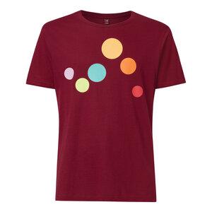 Circles T-Shirt Herren dunkelrot Bio & Fair - THOKKTHOKK
