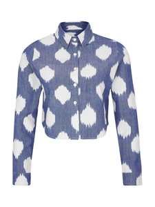 Ikat technique Shirt - Weiß - Mimmeko