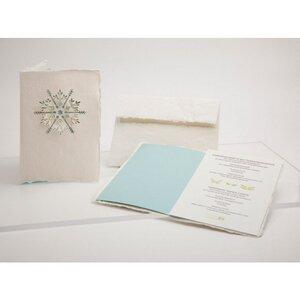 Briefkarte Schneeflocke - Formes