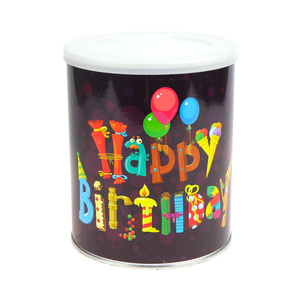 Geschenkdose Happy Birthday zum Selbstbefüllen, mit Klarsichtbox - Extragoods