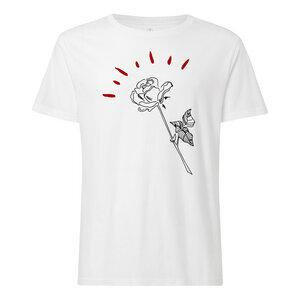 Rose T-Shirt Herren weiß Bio & Fair - THOKKTHOKK