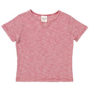 T-shirt - rot geringelt - People Wear Organic
