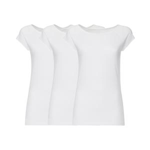 3er Pack BTD04 Cap Sleeve T-Shirt Damen Weiß Bio & Fair - THOKKTHOKK
