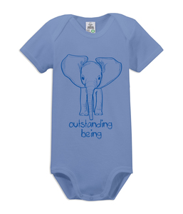 "Kurzarm Baby Body ""outstanding being"" - kippie"