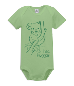 "Kurzarm Baby Body ""tree hugger"" - kippie"