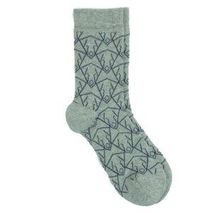 Bio Baumwoll Socke grau Hundemotiv - VNS Organic