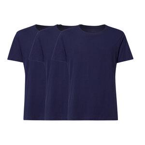 3er Pack BTD05 T-Shirt Herren Dunkelblau Bio & Fair - THOKKTHOKK