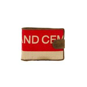 Recycling Geldbeutel Geldbörse Portemonnaie – Red Elephant Zementsack - Elephbo