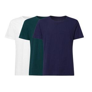 3er Pack BTD05 T-Shirt Herren Weiß/Petrol/Dunkelblau Bio & Fair - ThokkThokk