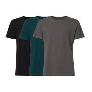 3er Pack BTD05 T-Shirt Herren Schwarz/Petrol/Dunkelgrau Bio & Fair - ThokkThokk