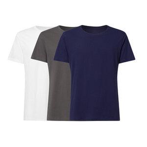 3er Pack BTD05 T-Shirt Herren Weiß/Dunkelgrau/Dunkelblau Bio & Fair - ThokkThokk