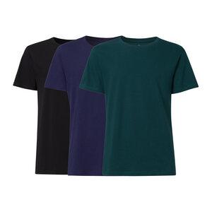 3er Pack BTD05 T-Shirt Herren Schwarz/Dunkelblau/Petrol Bio & Fair - THOKKTHOKK