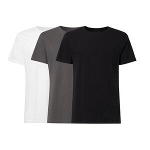3er Pack BTD05 T-Shirt Herren Weiß/Dunkelgrau/Schwarz Bio & Fair - ThokkThokk