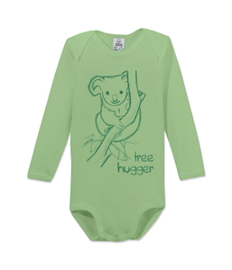 "Langarm Baby Body ""tree hugger"" - kippie"