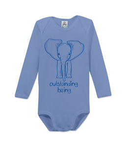 "Langarm Baby Body ""outstanding being"" - kippie"