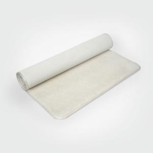 Yogamatte Schurwolle Lotus Design®, mit Samtband eingefasst - Lotus Design