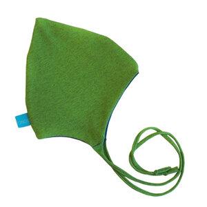Baby Zipfelmütze lime-melange (mit oder ohne Bänder) - bingabonga