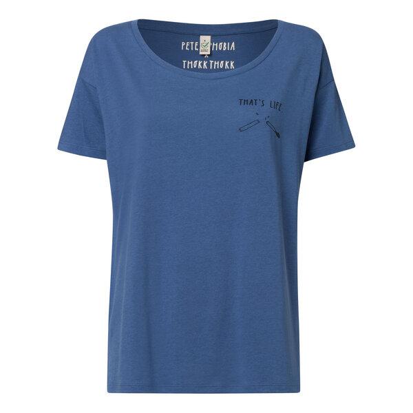 65a0994346a441 Peter Phobia - Peter Phobia That´s Life Oversized T-Shirt Damen schwarz denim
