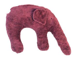 "Kuschelkissen ""Elefant"" Farbe: brommbeer / Hirsespelz - PAT & PATTY"