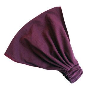 auffächerbares Haarband, uni aubergine - bingabonga