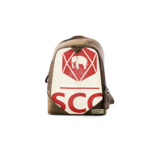 Rucksack Cutie 'Red Elephant' aus recyceltem Zementsack - Elephbo