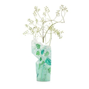 Paper Vase Cover - Dutch Design Papiervase - Jungle leaves - Pepe Heykoop