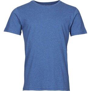 Basic Regular Fit O-Neck GOTS blue melange - KnowledgeCotton Apparel