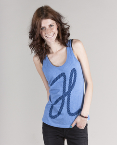 SEIL WOMEN TANK TOP MID HEATHER BLUE - HAFENDIEB