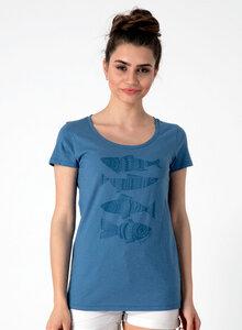 T-Shirt mit Fischmotiven aus Bio Baumwolle - ORGANICATION