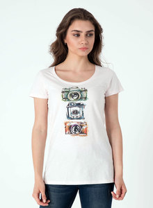Camera print T-shirt aus 100% Bio Baumwolle - ORGANICATION