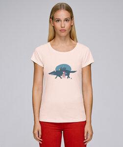 Basic T-Shirt mit Motiv / Roteskäppchen - Kultgut